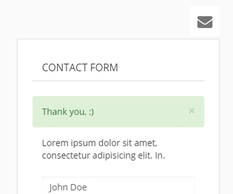 Contact form with validation + notification message with bootstrap alert dialog