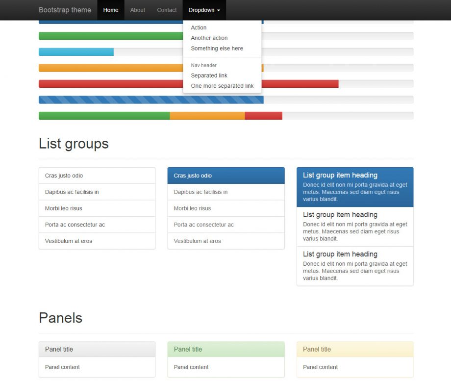 Bootstrap 3 components