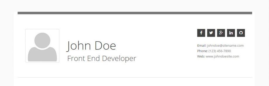 Resume - Header