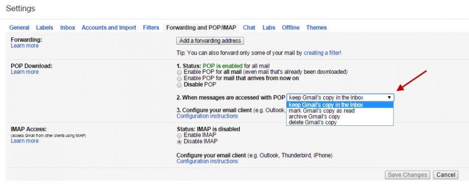 Gmail - POP