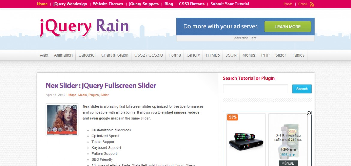 jQueryRain : Top jQuery  Plugins, Tutorials, Example