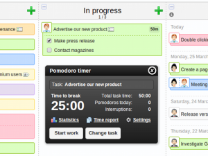 Time tracking with Pomodoro support