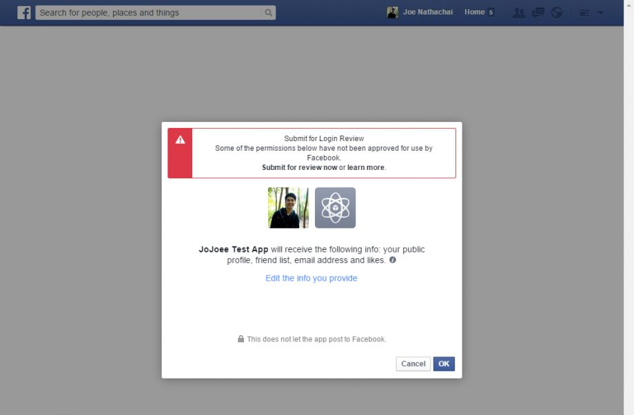 OAuth - Facebook step 3