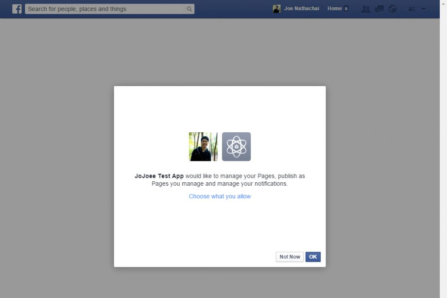 OAuth - Facebook step 4